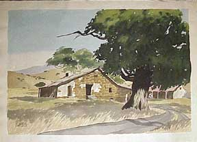Old Adobe Ranch House, San Jose. James March Phillips