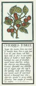Cherries Jubilee from Thirty Recipes Suitable for Framing. David Lance Goines