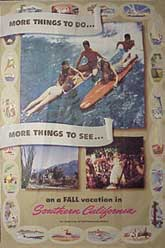 Fall Vacation in Southern California. [Surfing]. Anonymous California Artist