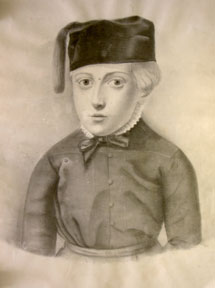 Portrait of a boy with a cap and tassle. Anonymous