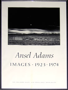 Images: 1923-1974. (Moonrise, Hernandez), New Mexico. Ansel Adams
