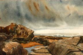 Rocky Shore with Waves. G. Callaway