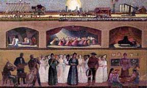 Design for the Mural at the Lubbock Memorial Civic Center. Millard Sheets