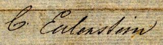 ALS to Geo. Cumberland, Esq., Jr. C. Eulenstein