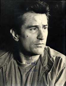 Autographed black and white publicity photograph of Analyze This star Robert De Niro. Robert De Niro