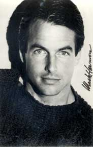 "Autographed black and white publicity photograph of ""Flamingo Road"" hunk Mark Harmon. Mark Harmon"