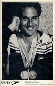 Autographed black and white publicity photograph of Olympic Gold Medalist and Sullivan Award...