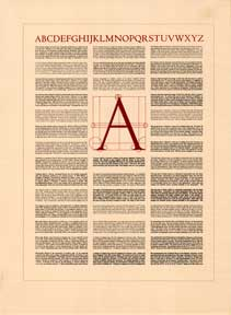 Type Specimen Broadside. David Lance Goines