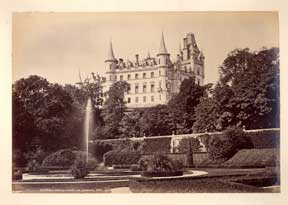 Dunrobin Castle, from the Gardens. G. W. Wilson