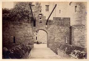 Drawbridge, Cawdor Castle. Nairn. G. W. Wilson
