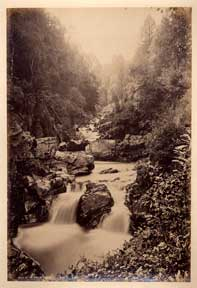 Falls of the Divie at Relugas. G. W. Wilson