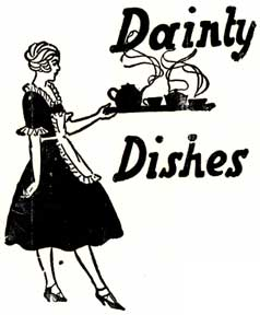 Dainty Dishes. Letterpress Metal Cut Artist