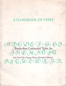 A Handbook of Types. Inc Amsterdam Continental Types