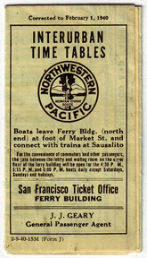 Northwestern Pacific Interurban Time Tables. Northwestern Pacific