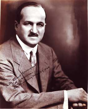 Autographed Photo portrait of J. M. Ybarra. Inc W. Colston Leigh