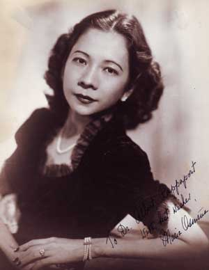 Autographed Photo portrait of Maria Osmeña. Franklin Photos