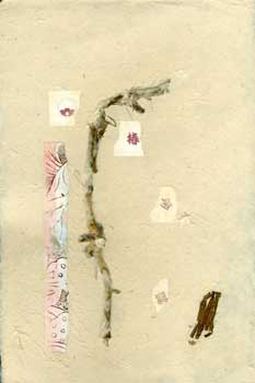 Handmade Paper and Collage with Reed Stalks. Nancy Welch.