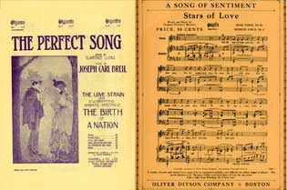 Collection of vintage sheet music. Chappell De Luxe Music Co., Oliver Ditson Co Co
