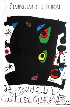 "Poster for the exhibition ""Òmnium Cultural."" Joan Mir&oacute"