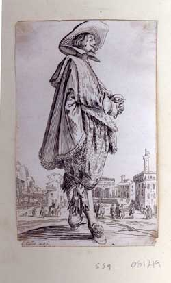 Le gentilhomme aux Main jointes. From La Noblesse series. Jacques Callot, After