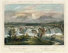 Falls of Cohoes, of the river Mohawk (Etat de New York) from Amerique Septentrionale. Jacques...