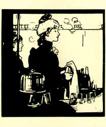 Barmaid (Any Bar). William Nicholson