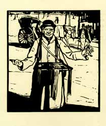 Sandwich-Man (Trafalgar Square). William Nicholson