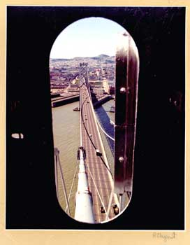 Keyhole portrait of San Francisco from Bay Bridge Tower. R. Chupont