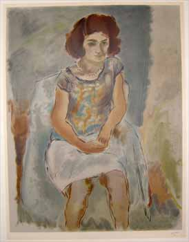 Seated woman. Jules Pascin.