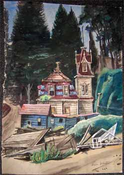 Victorian and Redwoods in Marin County. Norman Todhunter