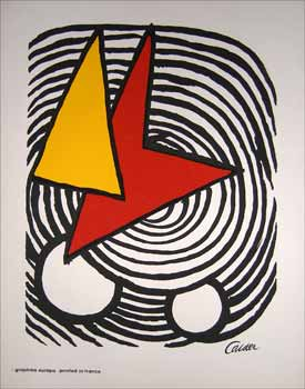 Red and Yellow Forms in a Black Swirl. Alexander Calder