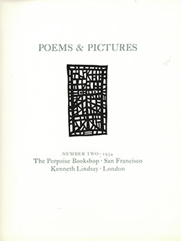 Poems & Pictures. Number Two. Limited Edition on rag paper. Robert Duncan, James Cleghorn.,...
