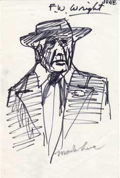F. W. [sic] Wright [i.e. Frank Lloyd Wright]. Mark Luca