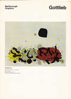 Prospectus for recent graphic works by Adolphe Gottlieb. Adolphe Gottlieb