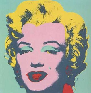 Marilyn Monroe 1967 in Aquamarine, Blush Pink, Buttercup Yellow and Cherry. Andy Warhol, After