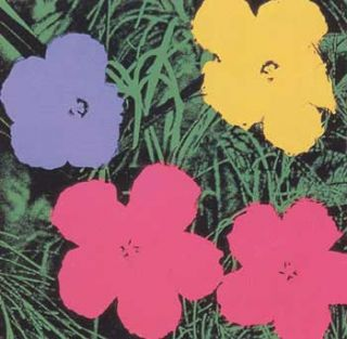 Flowers 1970 in Wisteria Blue, Buttercup, Carmine and Black. Andy Warhol, After