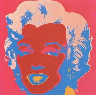 Marilyn Monroe 1967 in Crimson, Cherry, Flax Blue, Shell Pink and Apricot. Andy Warhol, After