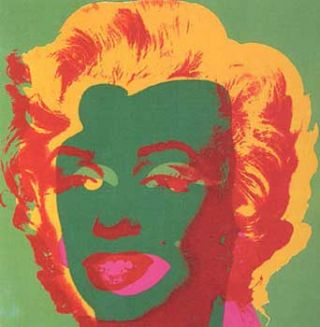 Marilyn Monroe 1967 in Grass Green, Meadow Green, Apricot, Scarlet and Rose. Andy Warhol, After.