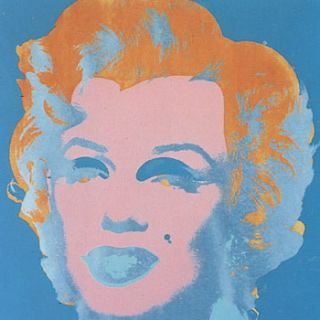 Marilyn Monroe 1967 in Flax Blue, Coral, Sky Blue and Blush Pink. Andy Warhol, After.