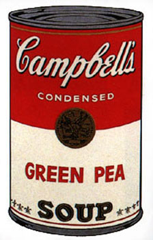 Campbell's Soup I 1968. Green Pea. Andy Warhol, After