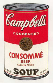 Campbell's Soup I 1968. Consommé (Beef), Gelatin Added. Andy Warhol, After