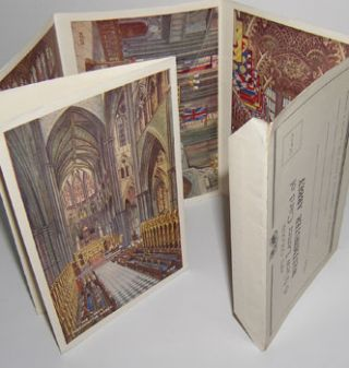 Art Colour 6 View Letter Card of Westminster Abbey. Valentine, Sons, London