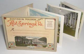 Souvenir Folder of Hot Springs, Virginia. Curt Teich, Co, Ill Chicago
