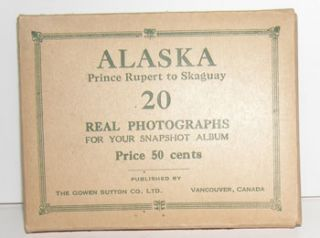 Alaska: Prince Rupoert to Skauay. 20 Real Photographs for Your Snapshot Album. Gowen Sutton Co,...