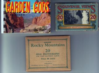 Colorado Souvenir Trio: Garden of the Gods, Rocky Mountains, and Denver and Mountain Parks....