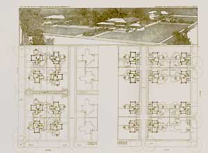 The Quadruple Block Plan, 1900. Pl. XIII. Frank Lloyd Wright