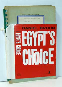 Egypt's Choice. Daniel Broun
