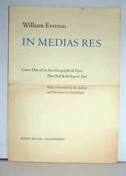Prospectus for In Medias Res. Canto One of an Autobiographical Epic: Dust Shall Be the Serpent's...