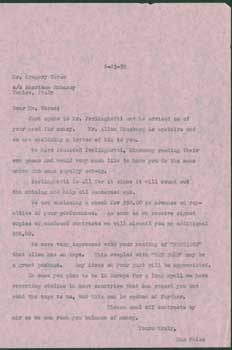 Typed unsigned CC letter Max Weiss to Gregory Corso, 6-23-1959. American Embassy, Max Weiss,...