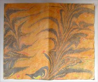 Marbled Paper. Late 20th Century Marbled Paper Maker